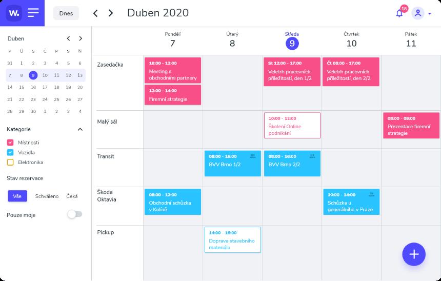 Všechny rezervace dostupné v přehledném kalendáři, na všech zařízeních.